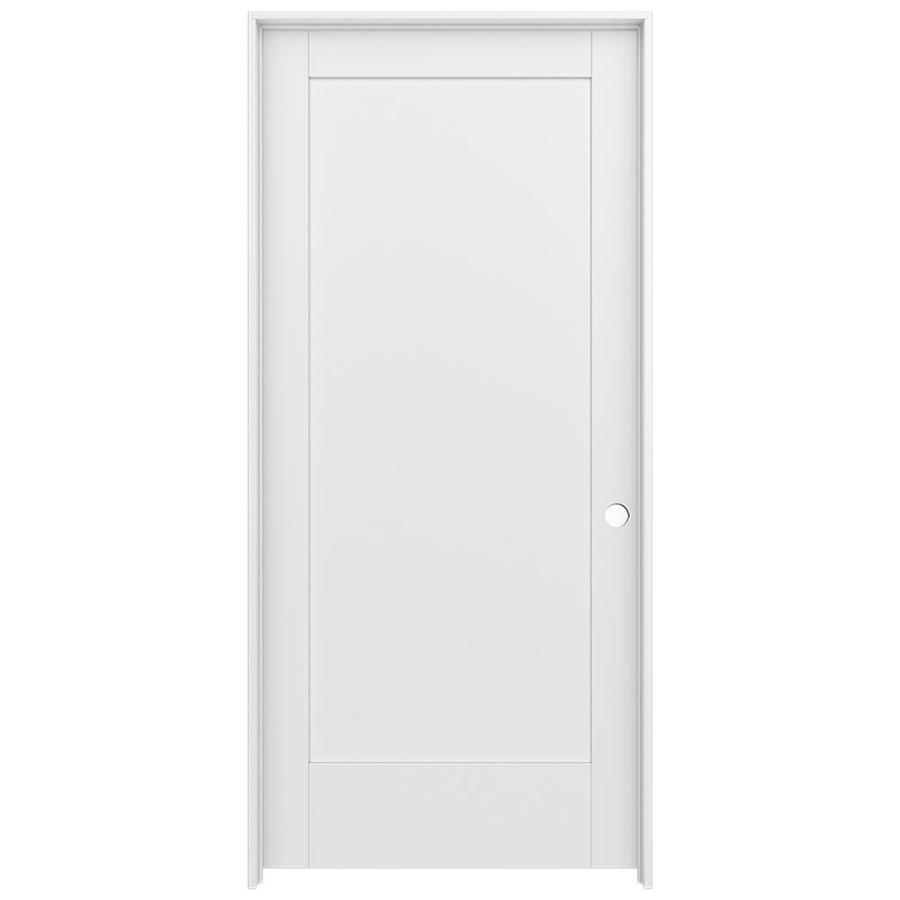 JELD-WEN MODA 1-panel Pine Single Prehung Interior Door (Common: 36-in X 80-in; Actual: 37.562-in x 81.688-in)