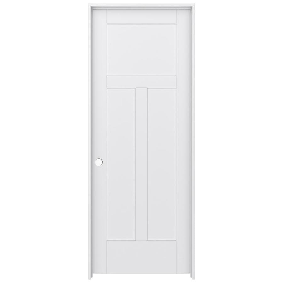 JELD-WEN MODA Primed Interior Door with Hardware (Common: 24-in x 80-in; Actual: 25.562-in x 81.688-in)