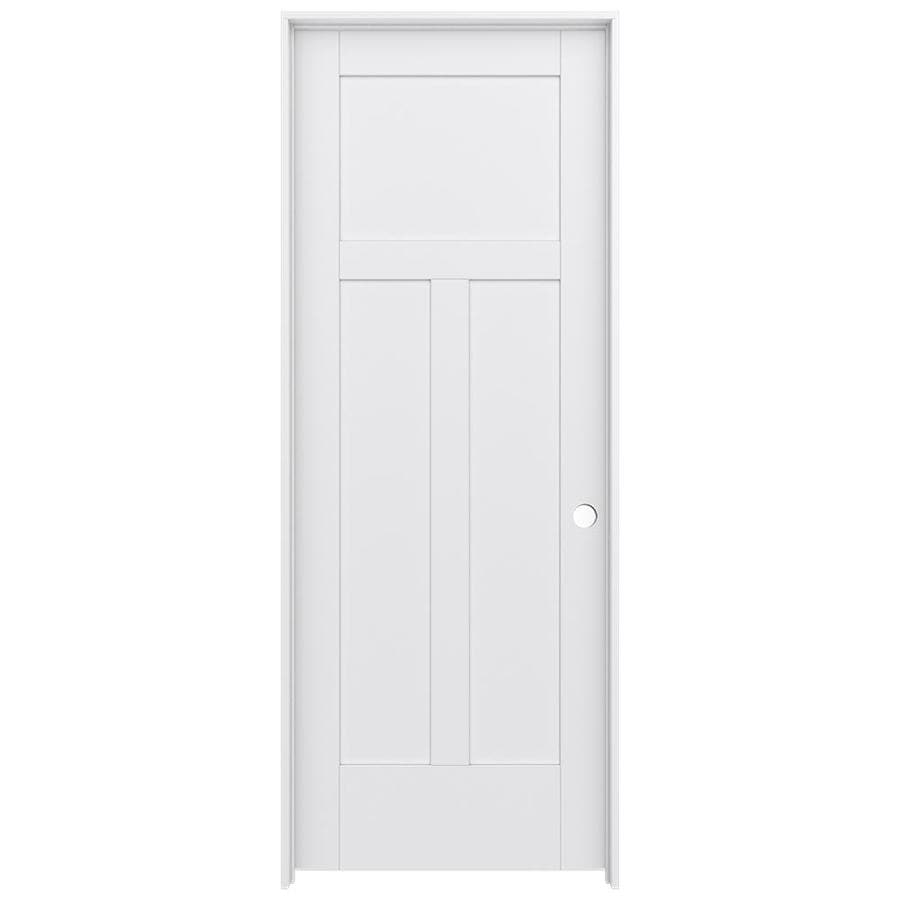 JELD-WEN MODA Pine Single Prehung Interior Door (Common: 28-in x 80-in; Actual: 29.5600-in x 81.6900-in)