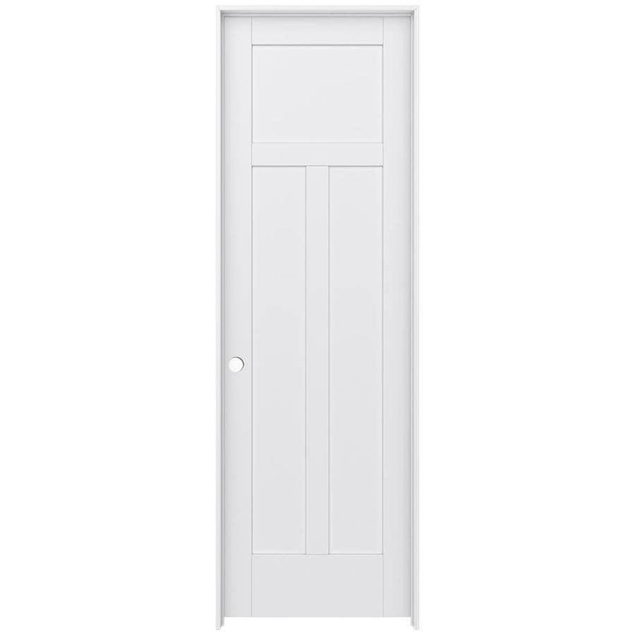 JELD-WEN Moda Prehung Solid Core 3-Panel Craftsman Interior Door (Common: 32-in x 96-in; Actual: 33.562-in x 97.688-in)