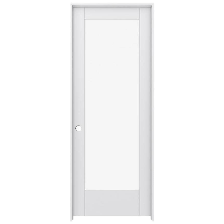 shop jeld wen moda primed 1 lite clear glass pine single