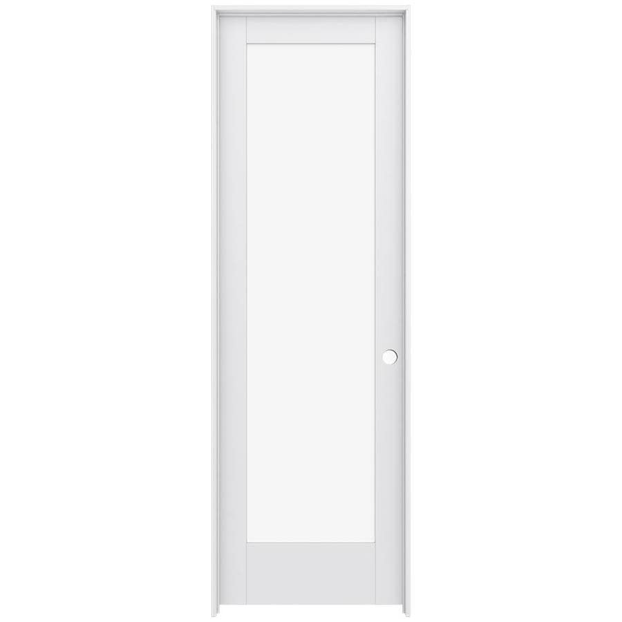 JELD-WEN Moda Prehung Solid Core 1-Lite Clear Glass Interior Door (Common: 28-in x 96-in; Actual: 29.562-in x 97.688-in)