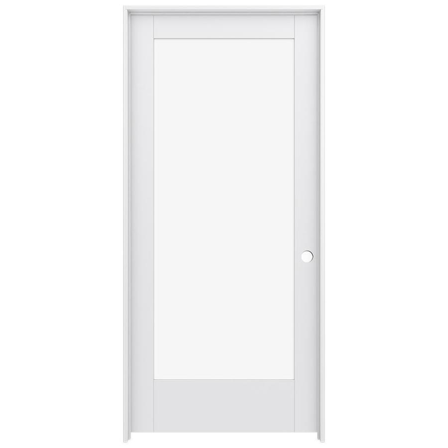 JELD-WEN Moda Prehung Solid Core 1-Lite Clear Glass Interior Door (Common: 36-in x 80-in; Actual: 37.562-in x 81.688-in)