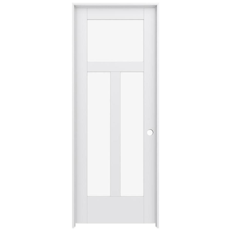 JELD-WEN Moda Prehung Solid Core 3-Lite Clear Glass Interior Door (Common: 24-in x 80-in; Actual: 25.562-in x 81.688-in)