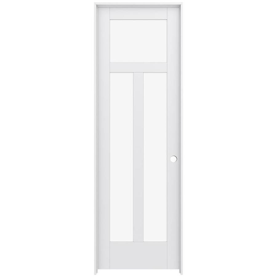 JELD-WEN MODA 3-lite Clear Glass Pine Single Prehung Interior Door (Common: 28-in X 96-in; Actual: 29.562-in x 97.688-in)
