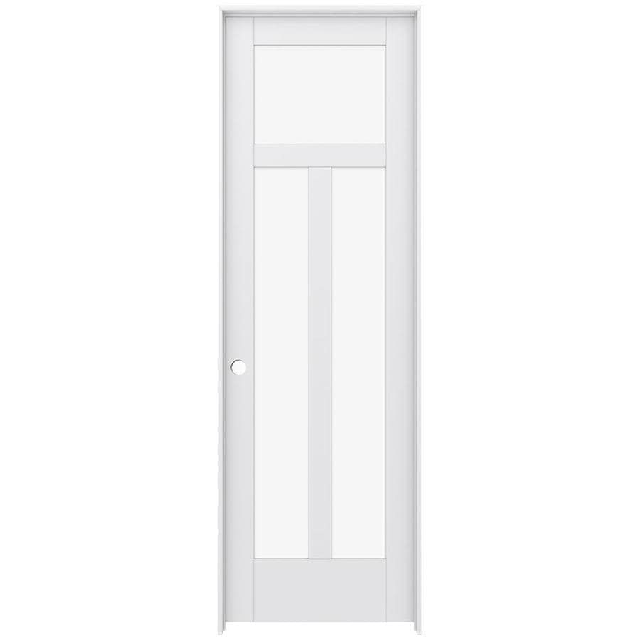 JELD-WEN Moda Prehung Solid Core 3-Lite Clear Glass Interior Door (Common: 30-in x 96-in; Actual: 31.562-in x 97.688-in)