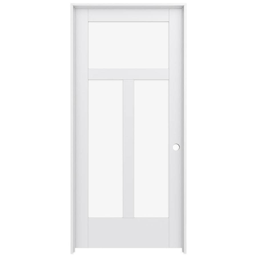 JELD-WEN MODA Clear Glass Pine Single Prehung Interior Door (Common: 36-in x 80-in; Actual: 37.5600-in x 81.6900-in)