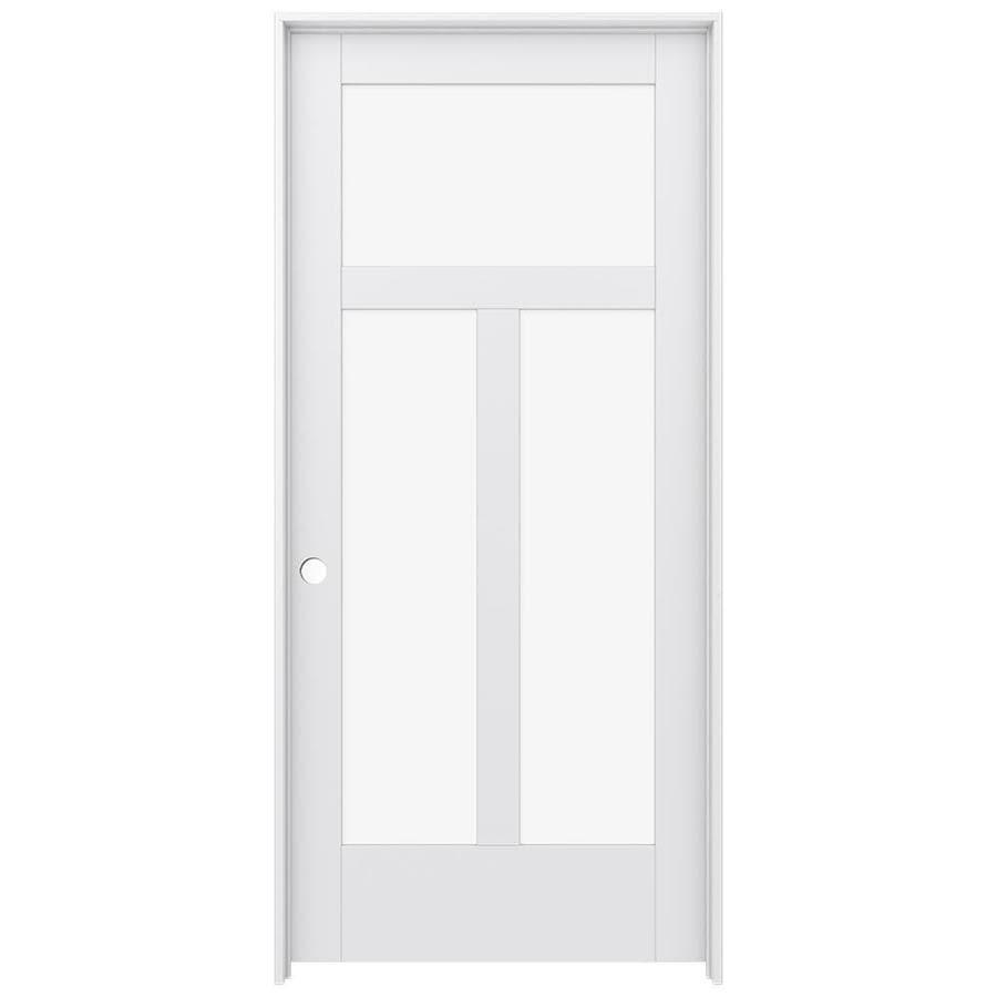 JELD-WEN Moda Prehung Solid Core 3-Lite Clear Glass Interior Door (Common: 36-in x 80-in; Actual: 37.562-in x 81.688-in)