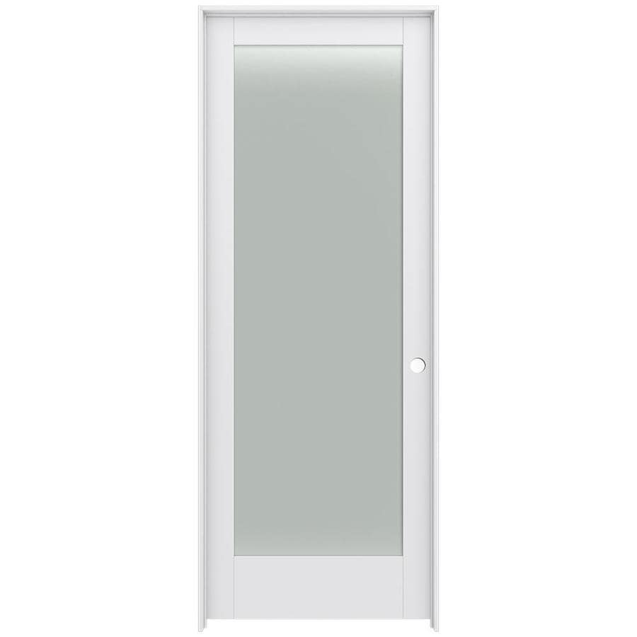 JELD-WEN MODA 1-Panel Square Frosted Glass Single Prehung Interior Door (Common: 36-in x 96-in; Actual: 36-in x 96-in)