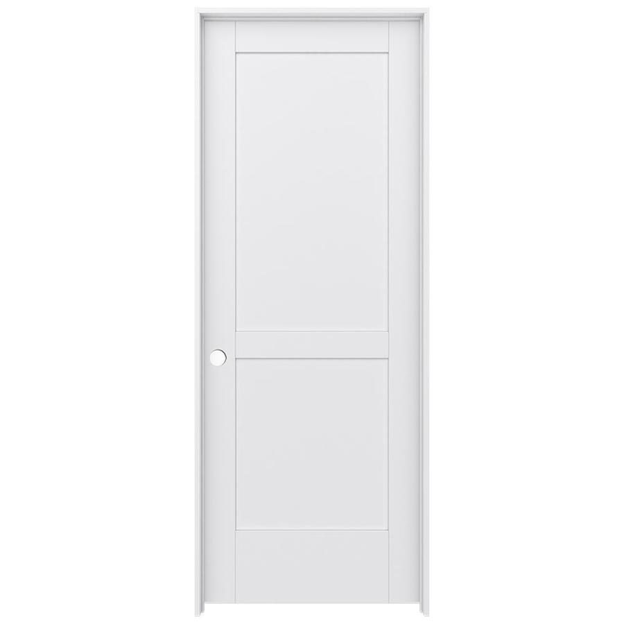 Shop Jeld Wen Moda Primed 2 Panel Square Pine Single Prehung Interior Door Common 24 In X 80