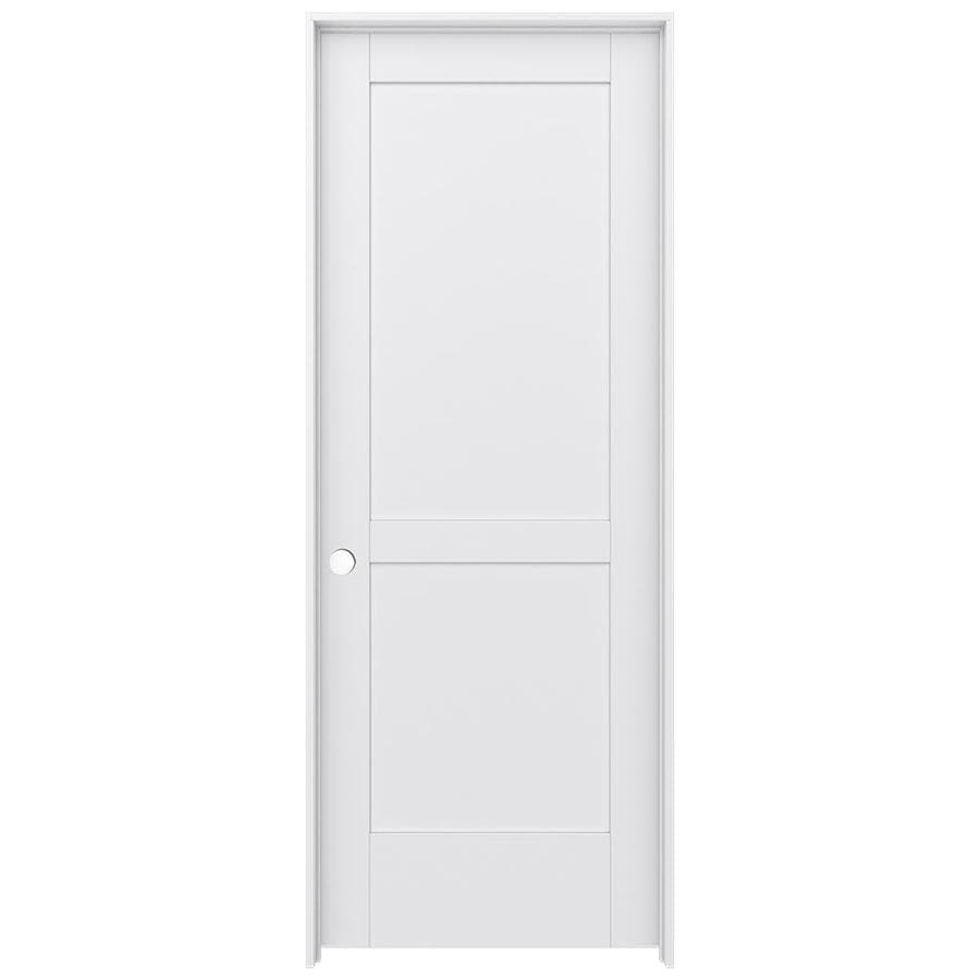 JELD-WEN MODA Primed Solid Core MDF Pine Single Prehung Interior Door (Common: 32-in x 80-in; Actual: 33.5600-in x 81.6900-in)
