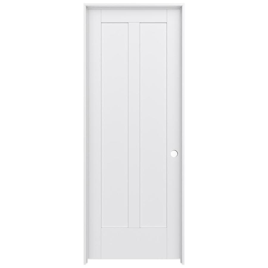 Shop jeld wen moda primed solid core mdf pine single for Solid core mdf interior doors