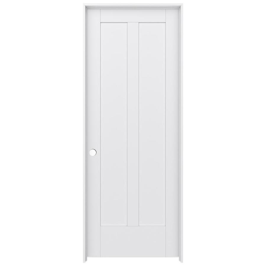 Shop jeld wen moda primed solid core mdf pine single for Mdf solid core interior doors