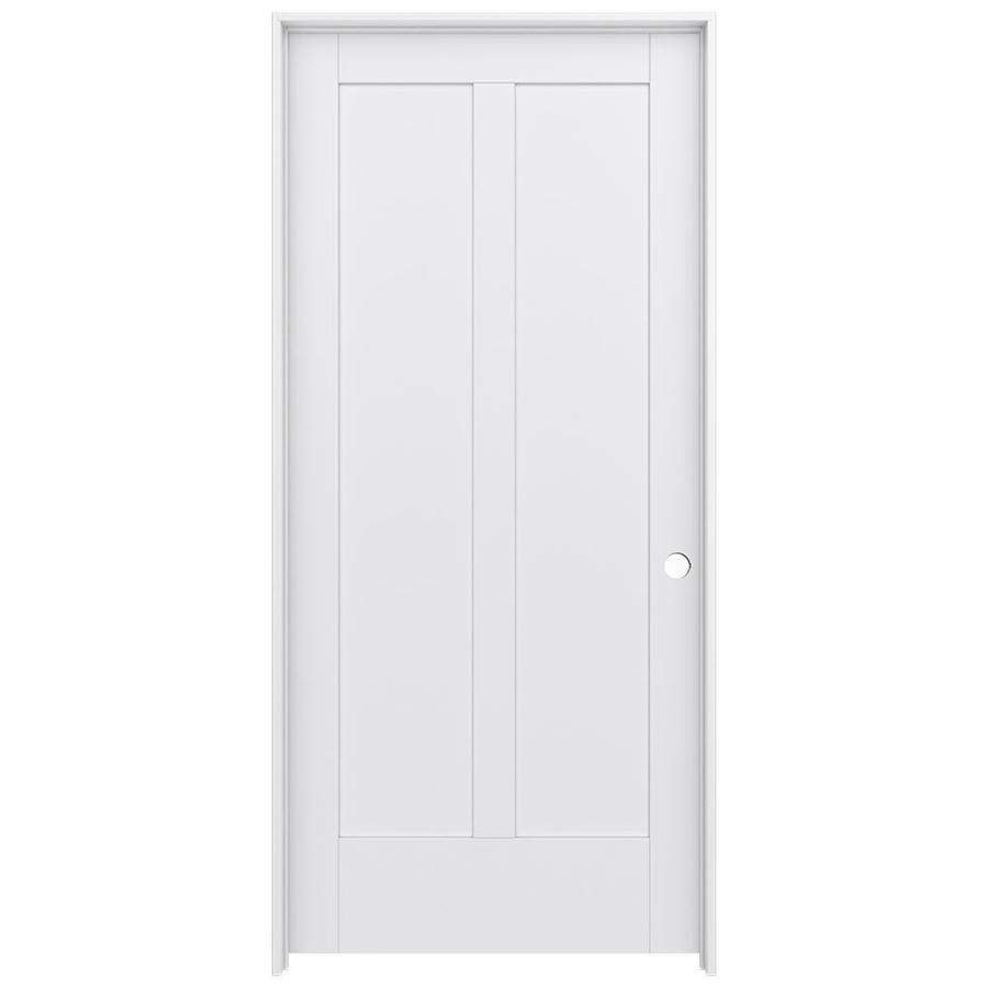 JELD-WEN MODA Primed Interior Door with Hardware (Common: 36-in x 80-in; Actual: 37.562-in x 81.688-in)