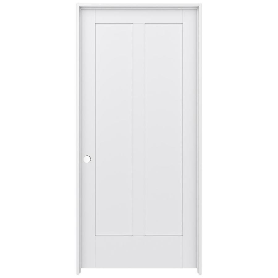 JELD-WEN MODA Primed Solid Core MDF Pine Single Prehung Interior Door (Common: 36-in x 80-in; Actual: 37.5600-in x 81.6900-in)