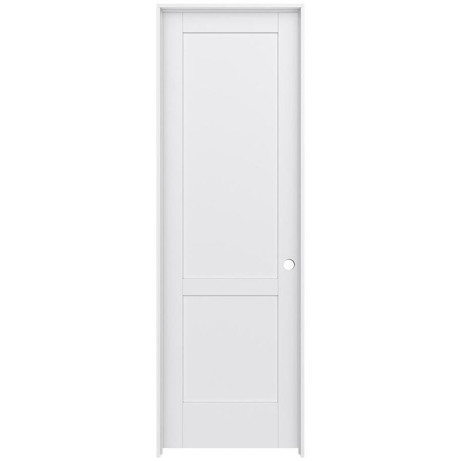 JELD-WEN MODA Primed Interior Door with Hardware (Common: 28-in x 96-in; Actual: 29.562-in x 97.688-in)