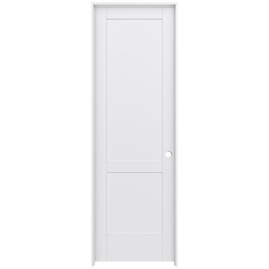 JELD-WEN MODA Primed Wood Pine Single Prehung Interior Door (Common: 32-in X 96-in; Actual: 33.5625-in x 97.6875-in)