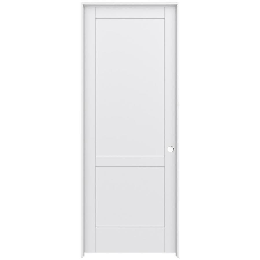 Shop jeld wen moda primed interior door with hardware for Interior 96 doors