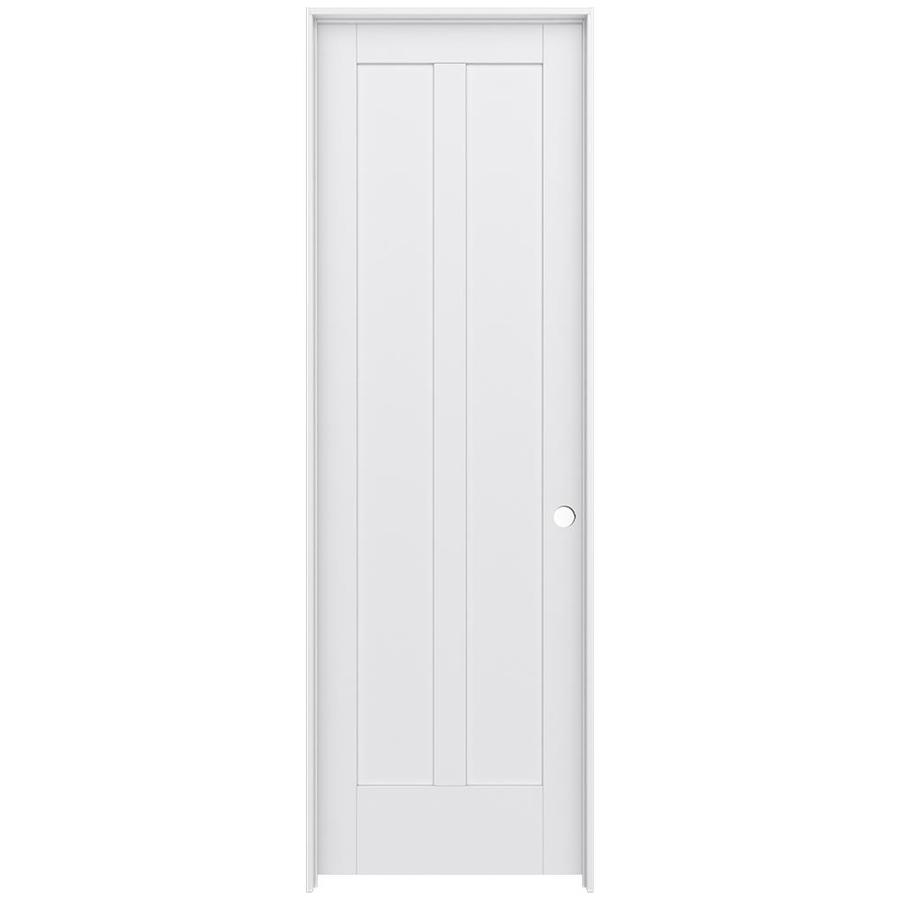 JELD-WEN MODA Primed Interior Door with Hardware (Common: 30-in x 96-in; Actual: 31.562-in x 97.688-in)