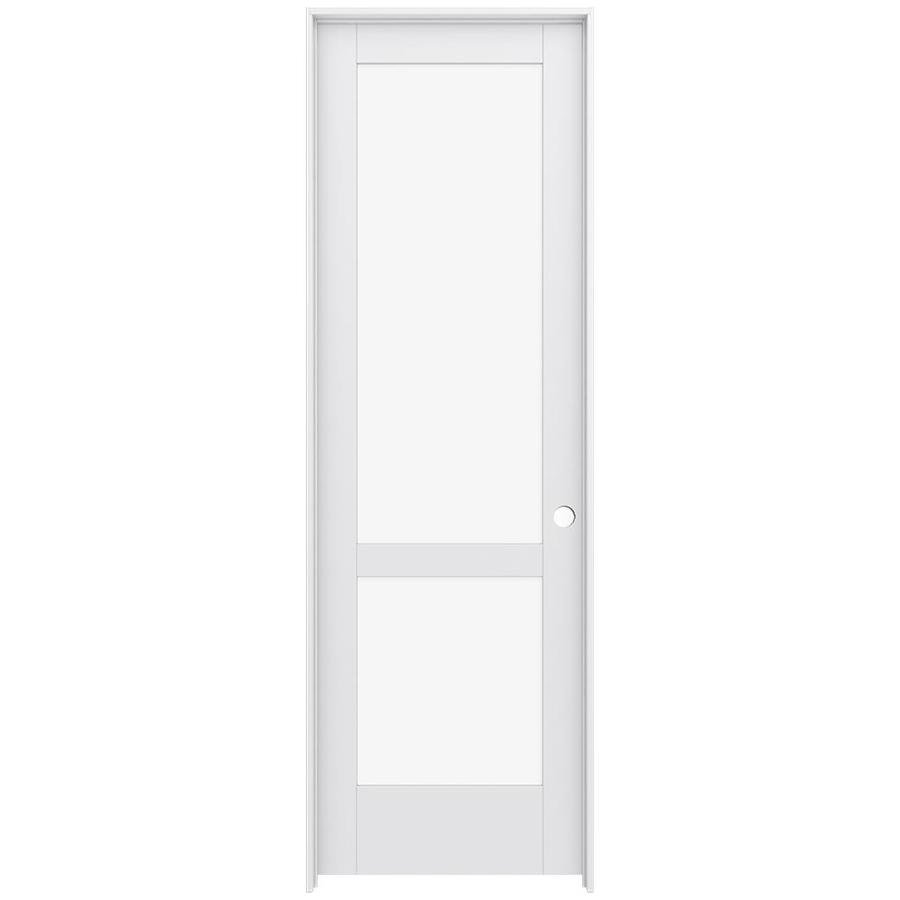 JELD-WEN Moda Prehung Solid Core 2-Lite Clear Glass Interior Door (Common: 24-in x 96-in; Actual: 25.562-in x 97.688-in)