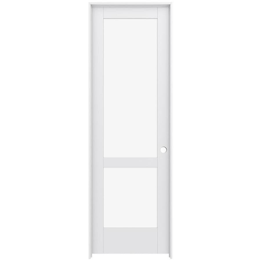 JELD-WEN MODA Clear Glass Pine Single Prehung Interior Door (Common: 30-in x 96-in; Actual: 31.5600-in x 97.6900-in)