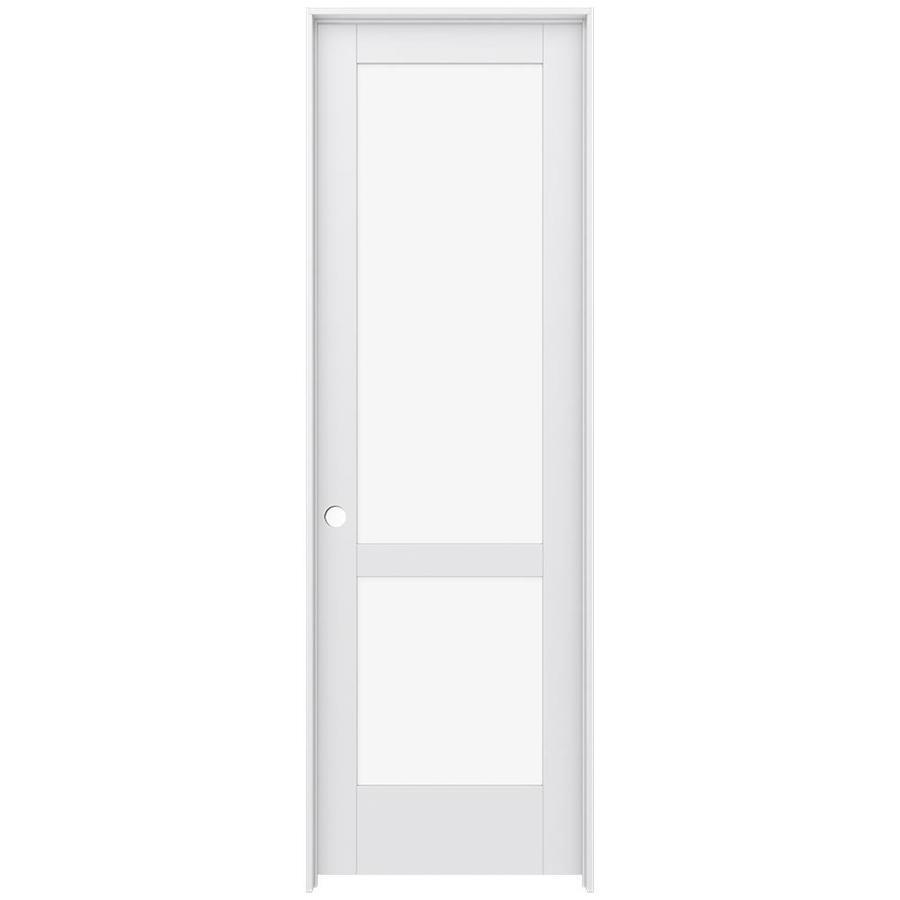 JELD-WEN MODA 2-lite Clear Glass Pine Single Prehung Interior Door (Common: 32-in X 96-in; Actual: 33.562-in x 97.688-in)
