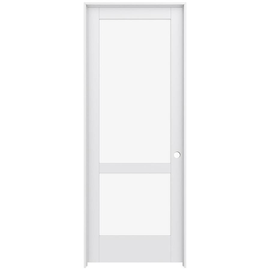 JELD-WEN Moda Prehung Solid Core 2-Lite Clear Glass Interior Door (Common: 36-in x 96-in; Actual: 37.562-in x 97.688-in)
