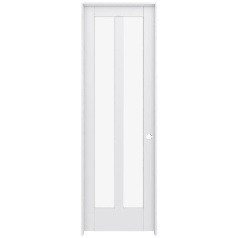JELD-WEN Moda Prehung Solid Core 2-Lite Clear Glass Interior Door (Common: 28-in x 96-in; Actual: 29.562-in x 97.688-in)