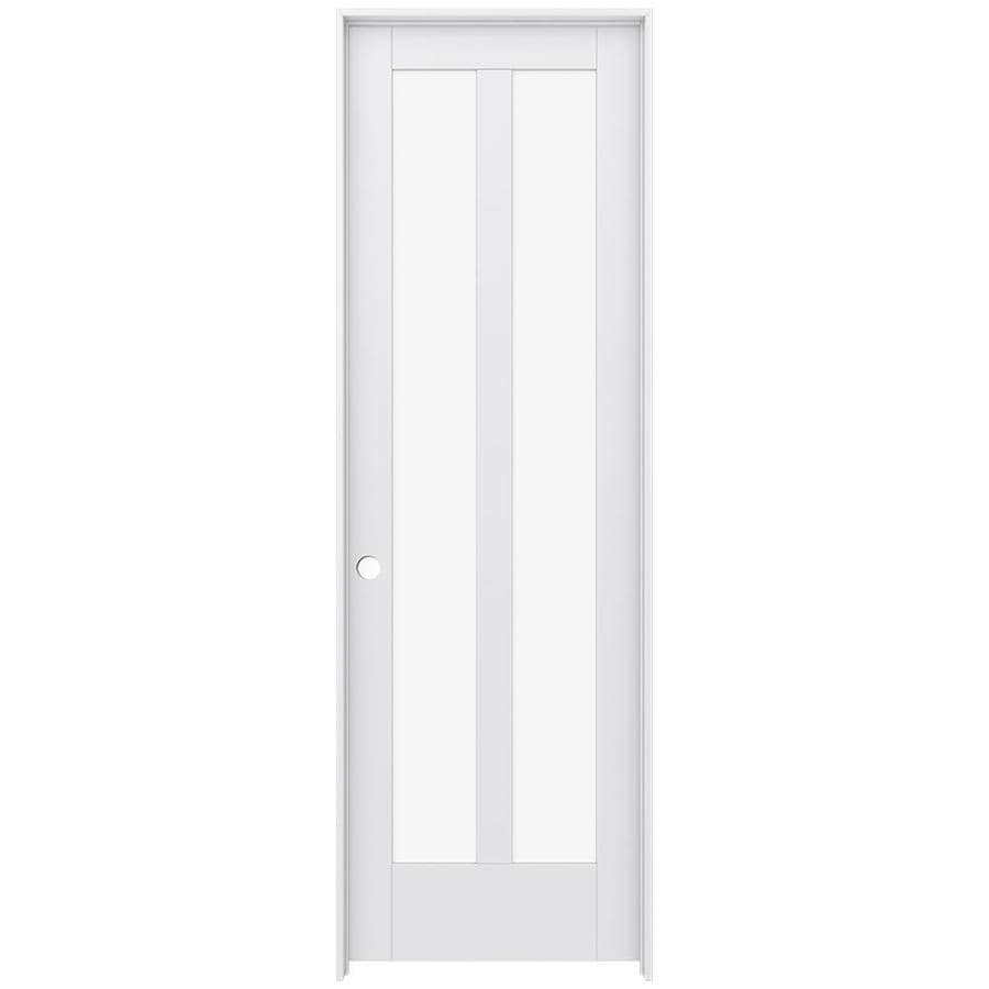 JELD-WEN Moda Prehung Solid Core 2-Lite Clear Glass Interior Door (Common: 32-in x 96-in; Actual: 33.562-in x 97.688-in)