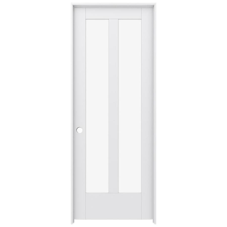 JELD-WEN MODA Primed Clear Glass Interior Door with Hardware (Common: 32-in x 80-in; Actual: 33.562-in x 81.688-in)