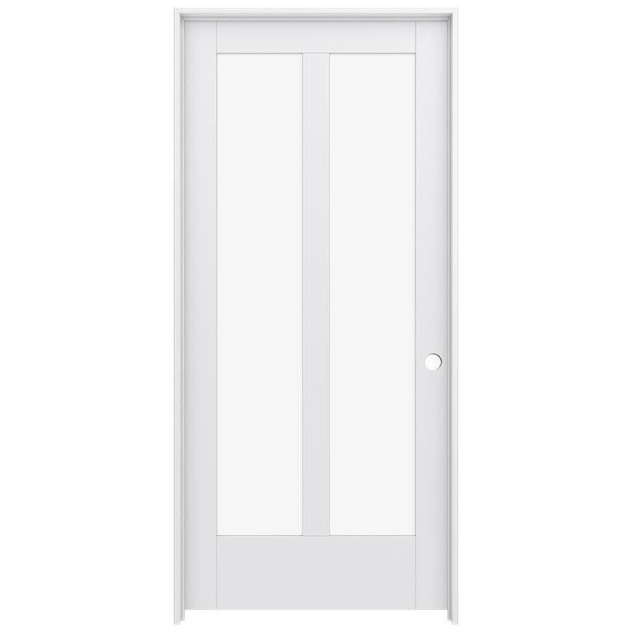 JELD-WEN Moda Prehung Solid Core 2-Lite Clear Glass Interior Door (Common: 36-in x 80-in; Actual: 37.562-in x 81.688-in)