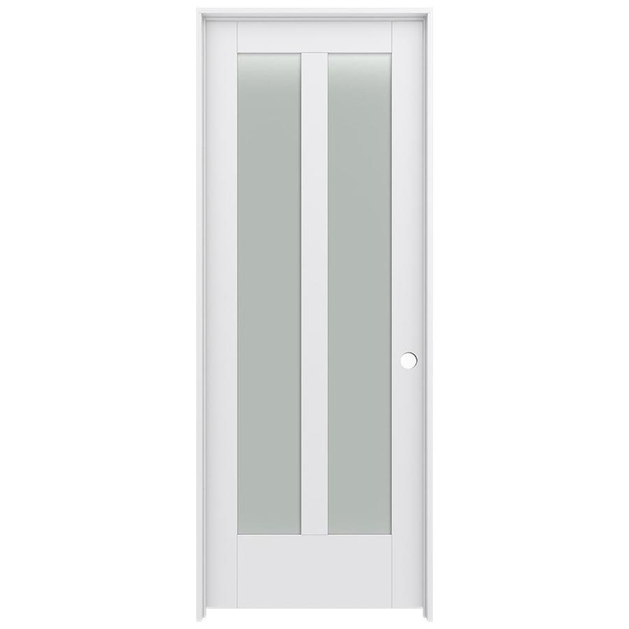 Shop Jeld Wen Moda Prehung Solid Core 2 Lite Frosted Glass