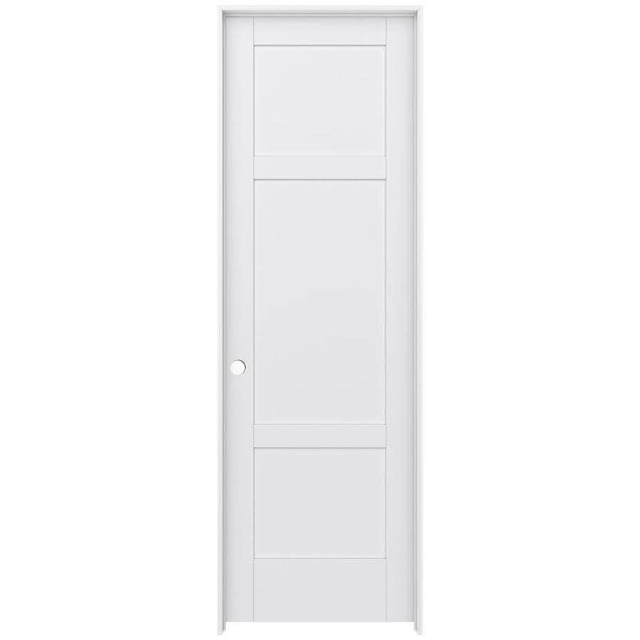 JELD-WEN MODA 3-panel Square Pine Single Prehung Interior Door (Common: 32-in X 96-in; Actual: 33.562-in x 97.688-in)