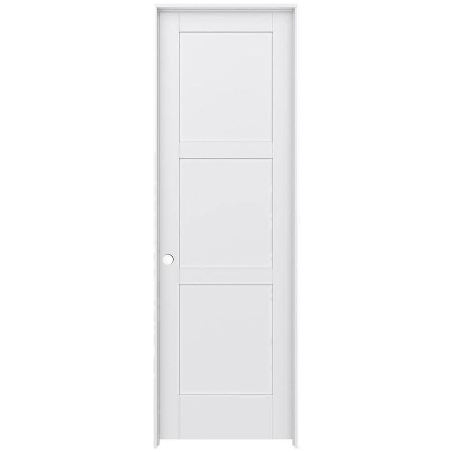 JELD-WEN Moda Prehung Solid Core 3-Panel Square Interior Door (Common: 32-in x 96-in; Actual: 33.562-in x 97.688-in)