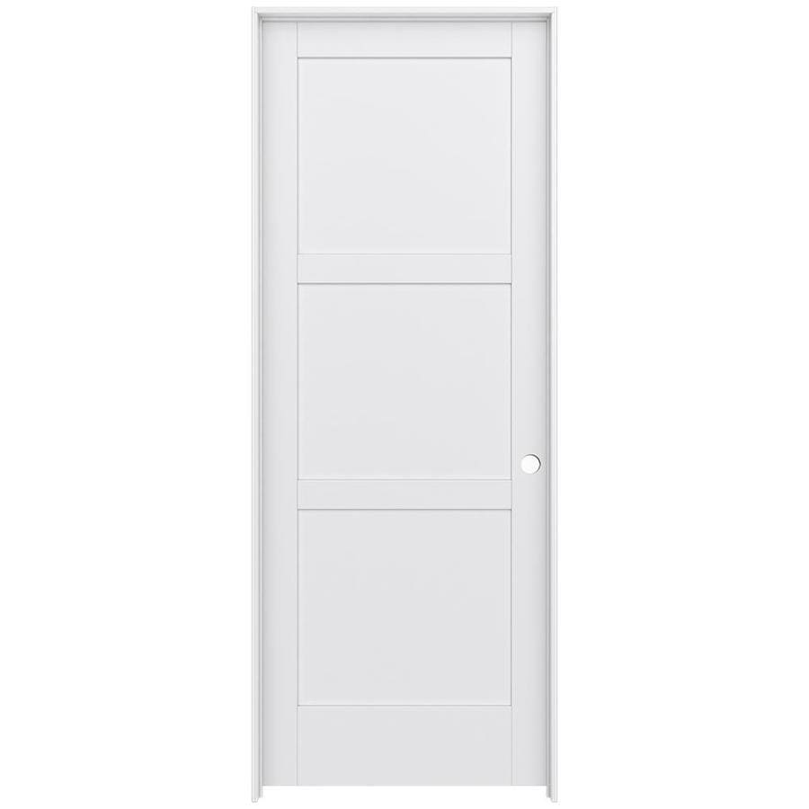 JELD-WEN Moda Prehung Solid Core 3-Panel Square Interior Door (Common: 36-in x 96-in; Actual: 37.562-in x 97.688-in)
