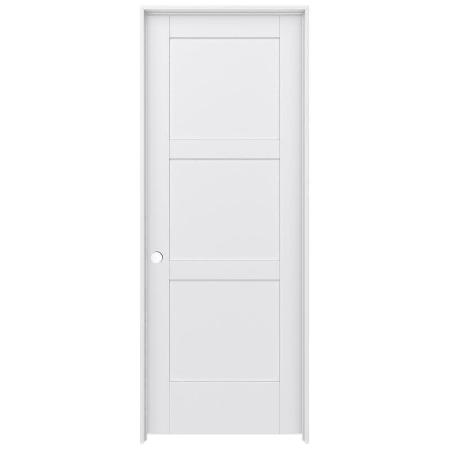 JELD-WEN MODA Primed Interior Door with Hardware (Common: 24-in x 80-in; Actual: 25.562-in x 81.688-in)