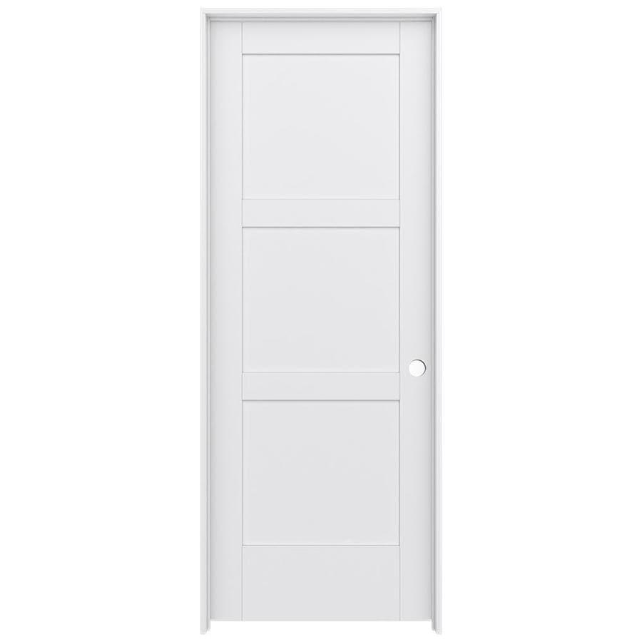 JELD-WEN MODA Primed Solid Core MDF Pine Slab Interior Door (Common: 28-in x 80-in; Actual: 29.5600-in x 81.6900-in)