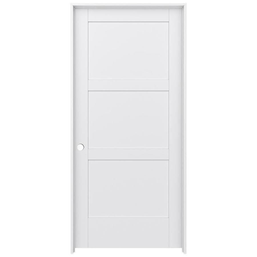 JELD-WEN Moda Prehung Solid Core 3-Panel Square Interior Door (Common: 36-in x 80-in; Actual: 37.562-in x 81.688-in)