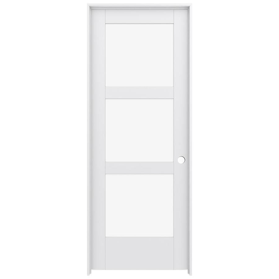 JELD-WEN Moda Prehung Solid Core 3-Lite Clear Glass Interior Door (Common: 24-in x 80-in; Actual: 25.562-in x 81.688-in)