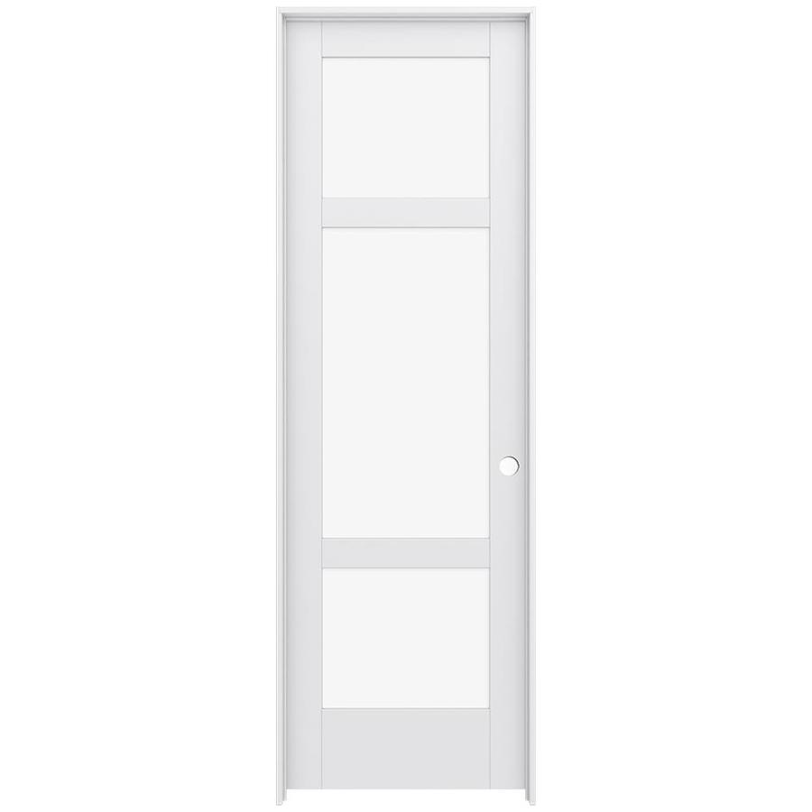 JELD-WEN MODA Clear Glass Pine Slab Interior Door (Common: 32-in x 96-in; Actual: 33.5600-in x 97.6900-in)