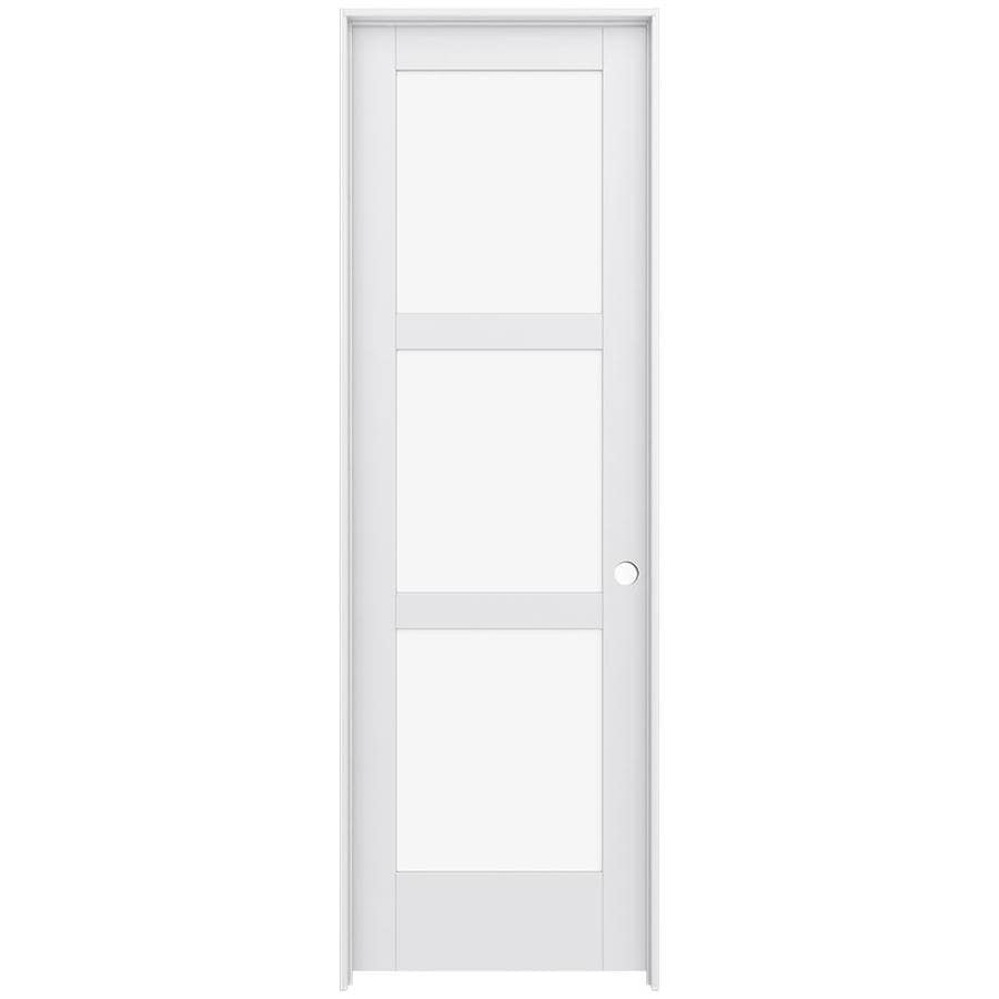 JELD-WEN Moda Prehung Solid Core 3-Lite Clear Glass Interior Door (Common: 28-in x 96-in; Actual: 29.562-in x 97.688-in)