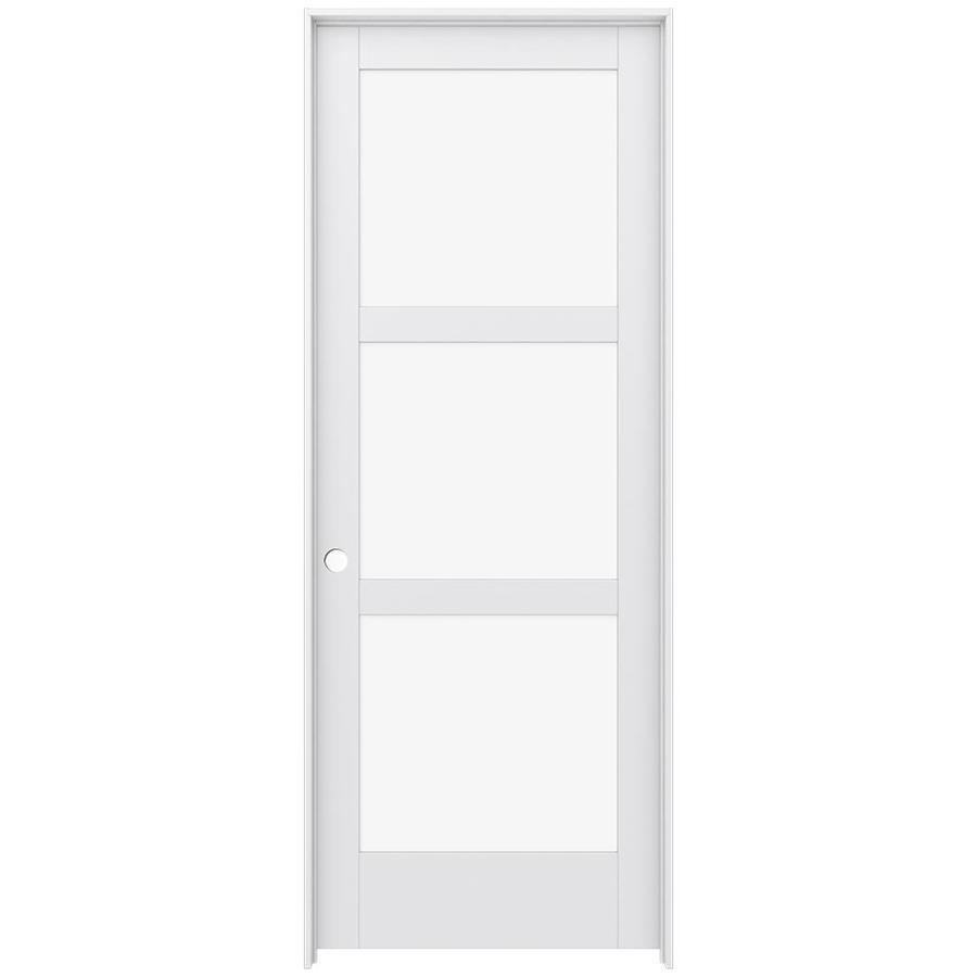 JELD-WEN Moda Prehung Solid Core 3-Lite Clear Glass Interior Door (Common: 36-in x 96-in; Actual: 37.562-in x 97.688-in)