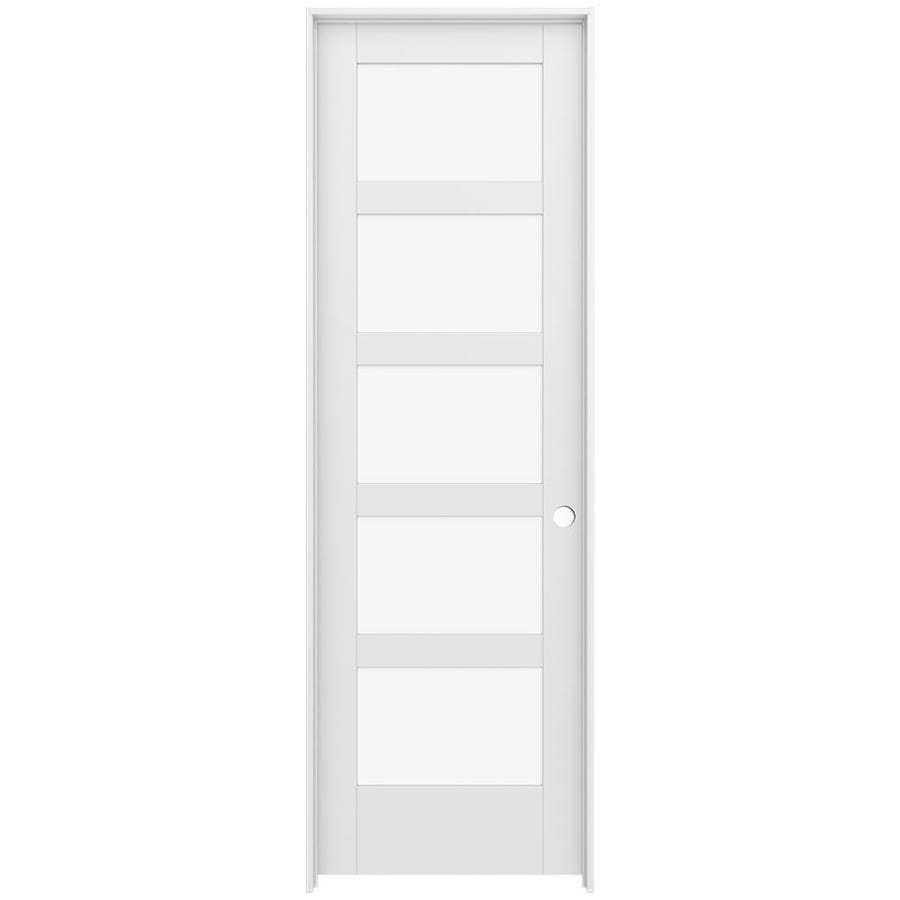 JELD-WEN Moda Prehung Solid Core 5-Lite Clear Glass Interior Door (Common: 28-in x 96-in; Actual: 29.562-in x 97.688-in)