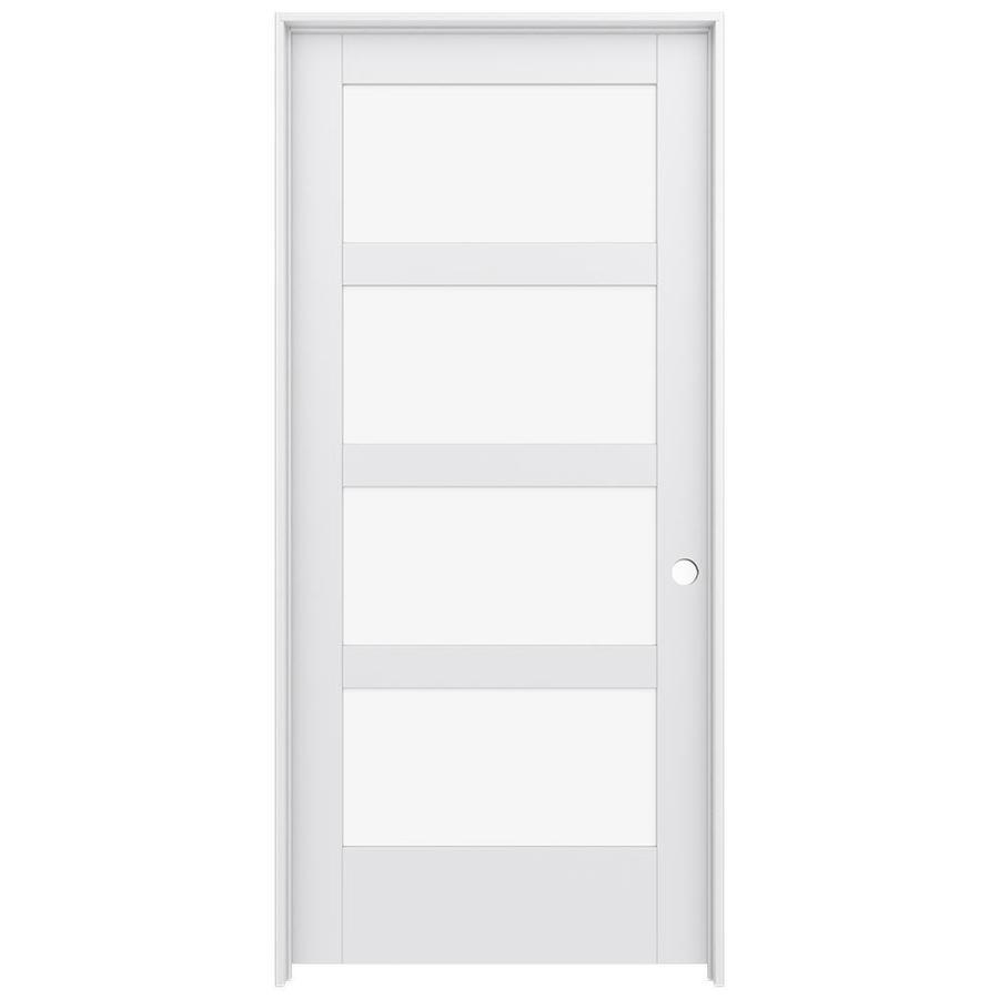 JELD-WEN Moda Prehung Solid Core 4-Lite Clear Glass Interior Door (Common: 36-in x 80-in; Actual: 37.562-in x 81.688-in)
