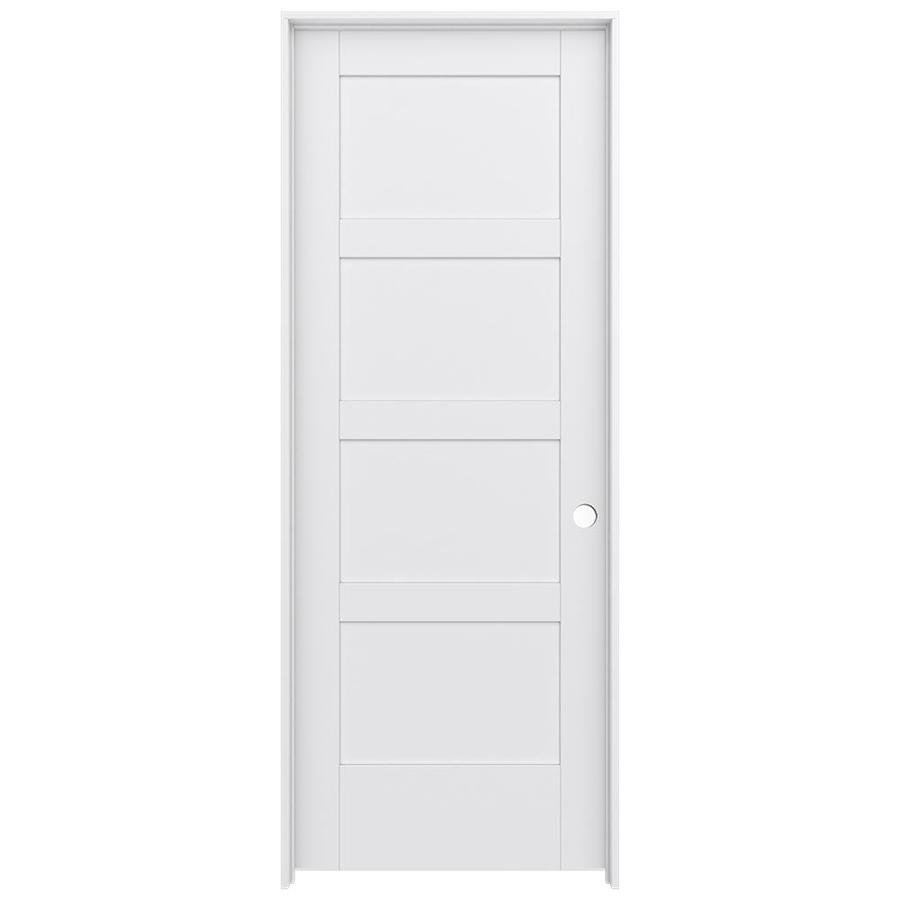 JELD-WEN MODA Primed Solid Core MDF Pine Slab Interior Door (Common: 32-in x 80-in; Actual: 33.5600-in x 81.6900-in)