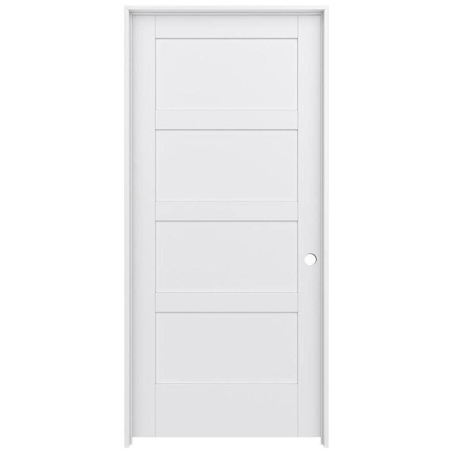 JELD-WEN MODA Primed Interior Door with Hardware (Common: 36-in x 80-in; Actual: 37.562-in x 81.688-in)