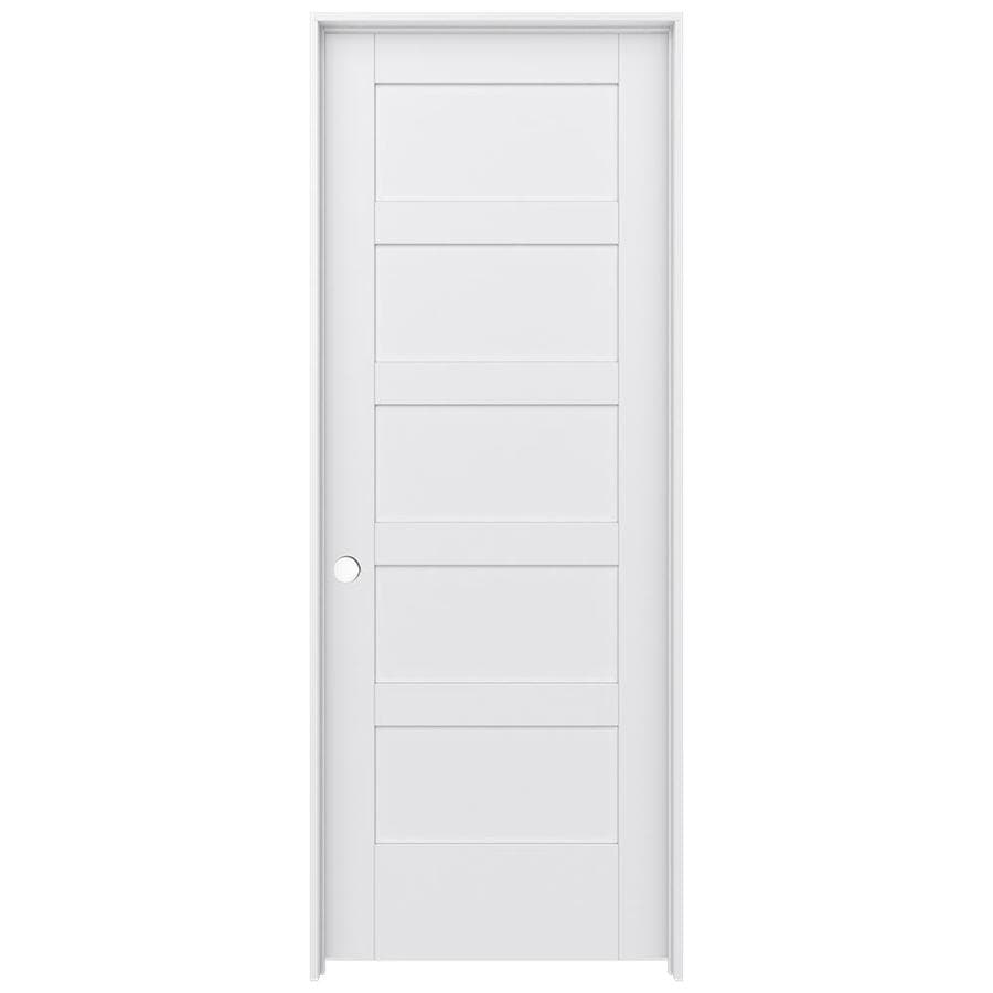 JELD-WEN MODA Primed Solid Core MDF Pine Slab Interior Door (Common: 28-in x 80-in; Actual: 29.5600-in x 81.6900-in)