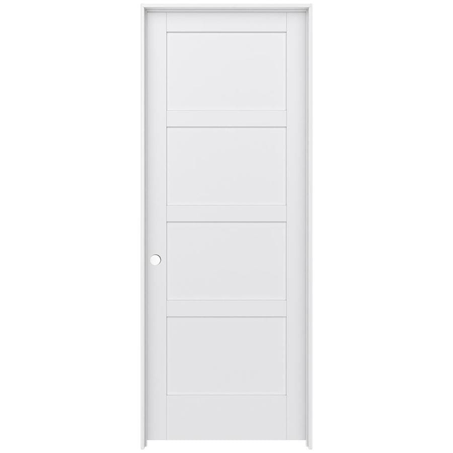 JELD-WEN Moda Prehung Solid Core 4 Panel Square Interior Door (Common: 36-in x 96-in; Actual: 37.562-in x 97.688-in)