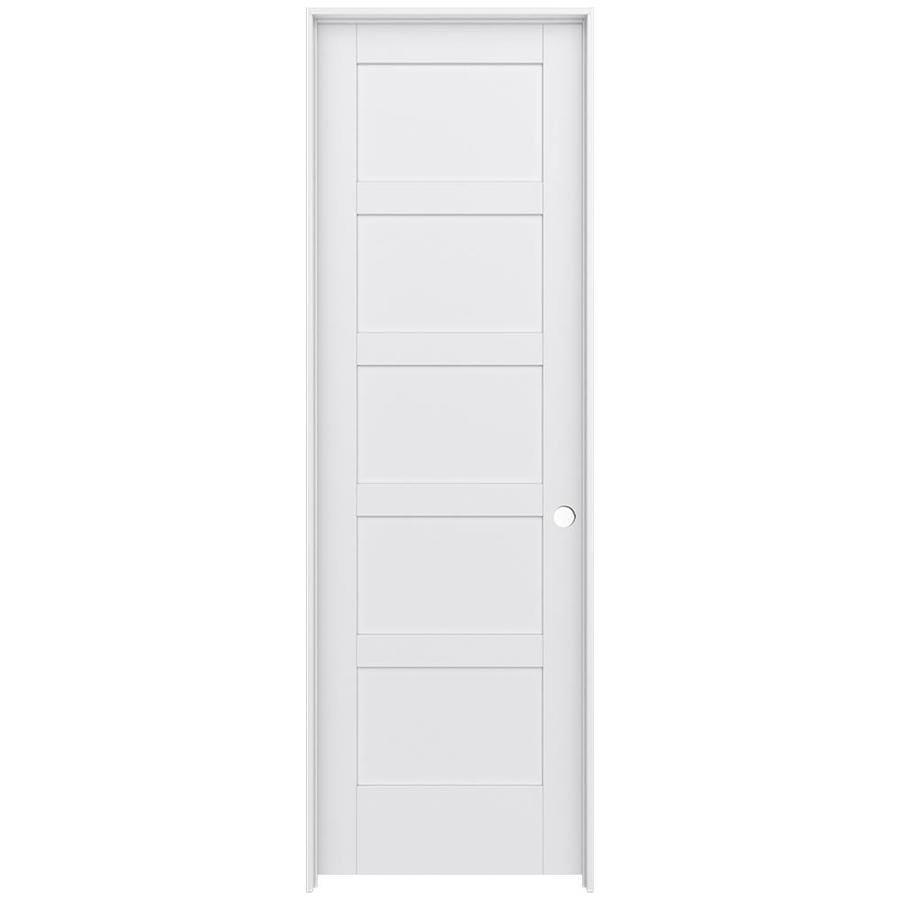 JELD-WEN Moda Prehung Solid Core 5-Panel Equal Interior Door (Common: 24-in x 96-in; Actual: 25.562-in x 97.688-in)