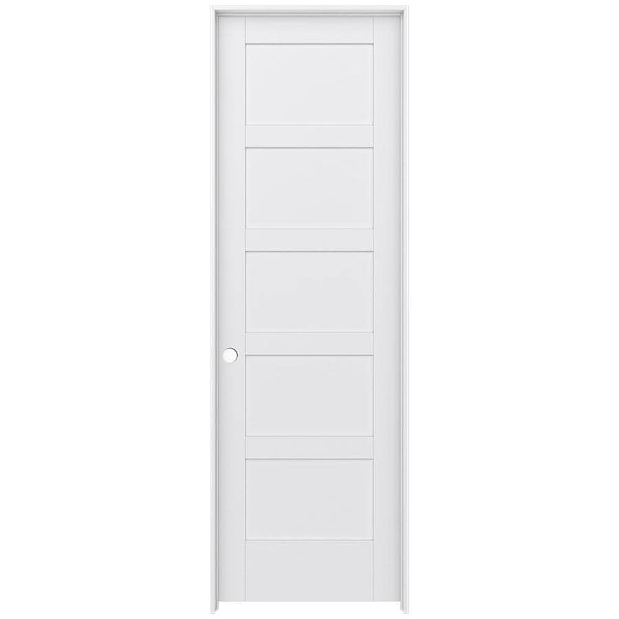 JELD-WEN MODA Primed Interior Door with Hardware (Common: 28-in x 96-in; Actual: 29.562-in x 97.688-in)
